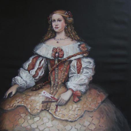 In the style of Velasquez's court paintings