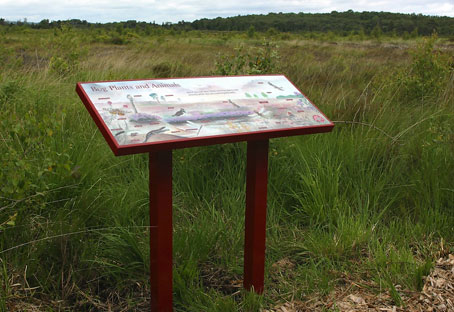 Wildlife interpretive panel at Peatlands Park