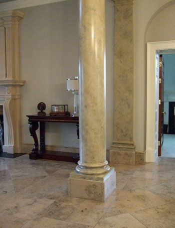 Jura stone effect columns for private client, Northern Ireland