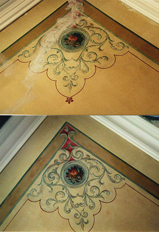 Ceiling before and after for private client