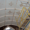 Painted canvas at St Malachy�s Belfast, before restoration
